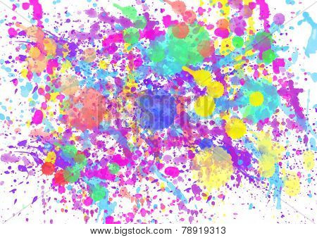 paint watercolor splatter spray