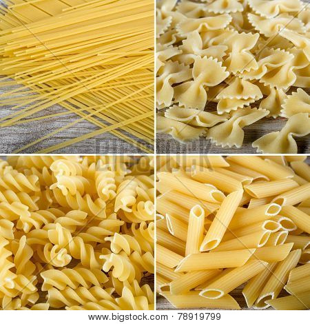 Collage of different macaroni