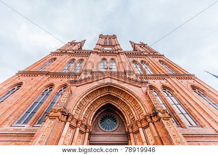 Marktkirche in Wiesbaden, Germany. Front view.