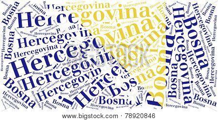 National Flag Of Bosnia And Herzegovina.