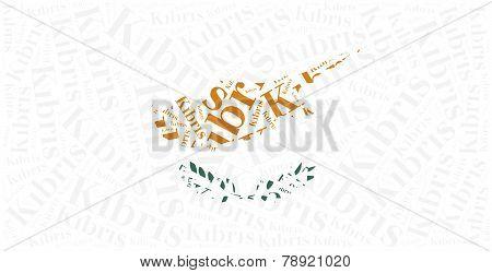 National Flag Of Cyprus. Word Cloud Illustration.