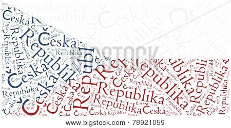 National Flag Of Czech Republic. Word Cloud Illustration.