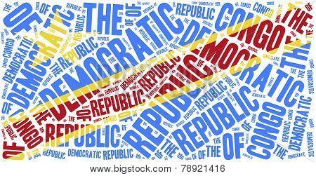 National Flag Of Democratic Republic Of Congo.