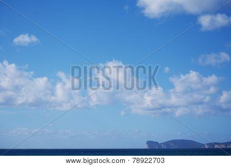 Capo Caccia Under A Cloudy Sky