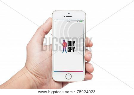 Photo Of A Hand Using Guy Spy App On Iphone 5S