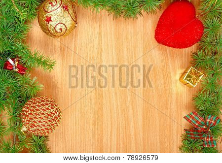 Wonderful Christmas Decoration With Fir Tree And Ornamentals Gifts Or Presents