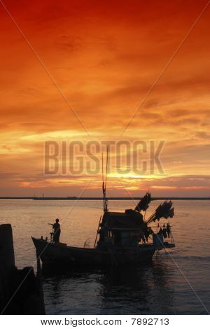 Fishing boat thai