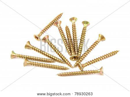 Bunch of golden screws
