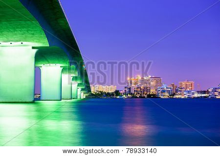 Sarasota, Florida, USA downtown city skyline.