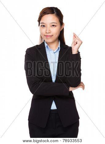 Businesswoman got an idea