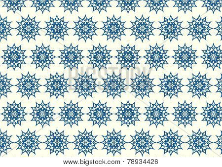 Dark Blue Retro Bloom And Arrow Shape And Lobe Pattern On Pastel Background