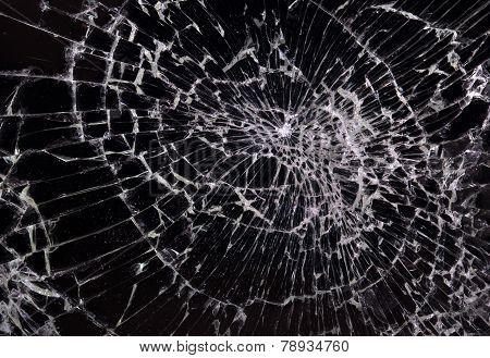 Broken Glass, Black Background