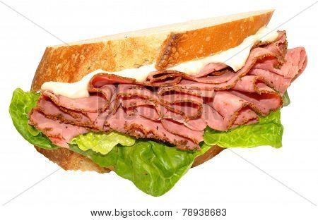 Pastrami Meat Sandwich