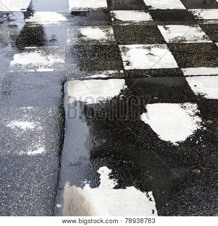 Black And White Pattern Od Squares At The Street