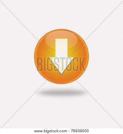 Orange Icon Arrow Down