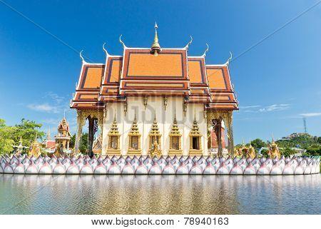 Part Of Temple Wat Plai Laem On Samui Island. Thailand