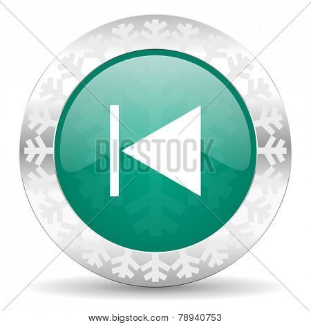 previous green icon, christmas button