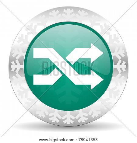aleatory green icon, christmas button