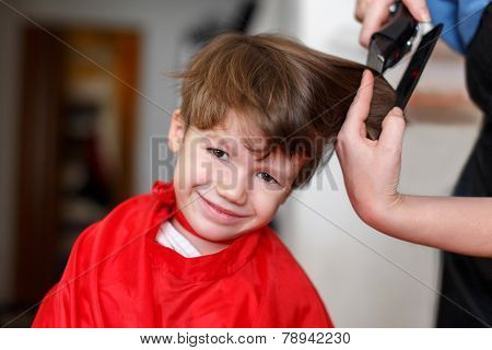 Little Boy At Barber