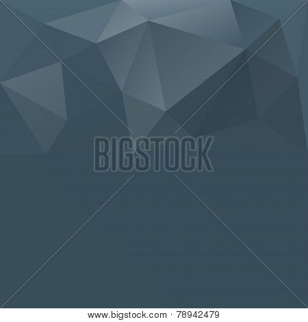 Gray blue abstract polygonal background