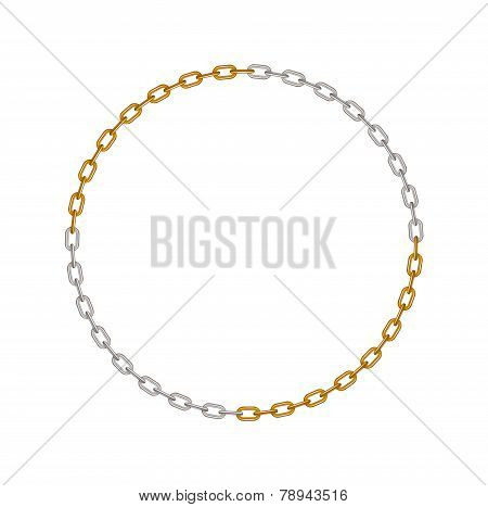 Chain in shape of circle divided in quarters