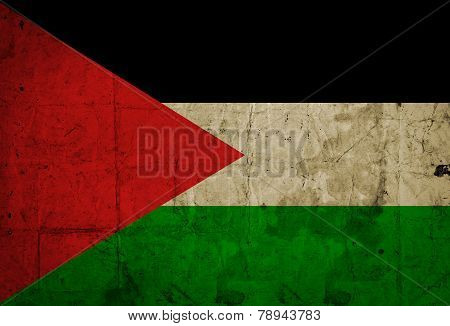 Grungy of Palestine Flag
