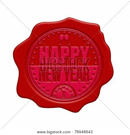 Happy New Year Wax Seal