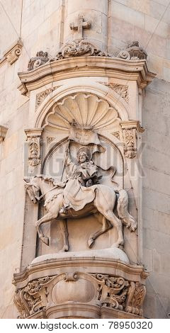 Ancient bas-relief in Barcelona