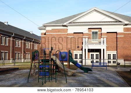 Playground at an elementary school