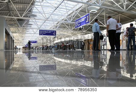 Departure Lounge At The Airport Boryspil