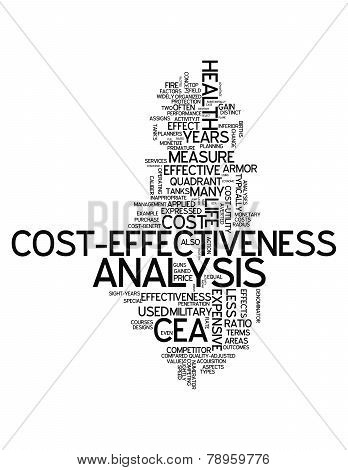 Word Cloud Cost-effectiveness Analysis