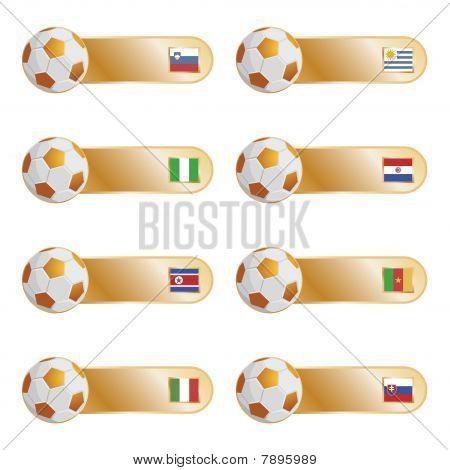 football flag tabs