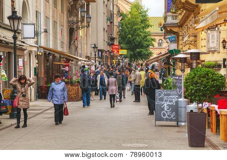 Vaci Street Crowded With Tourists