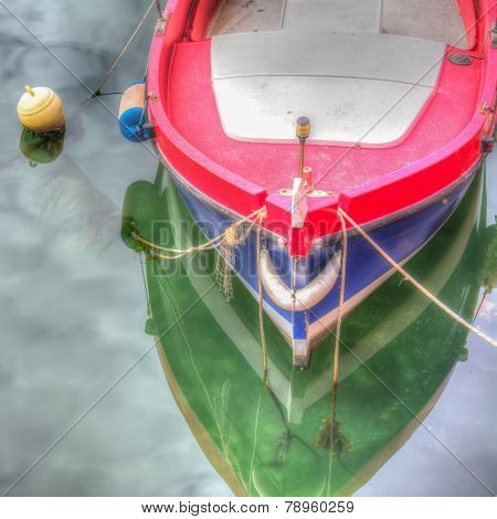 Colorful Boat By The Shore In Temo River