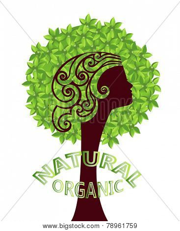 Mother nature natural organic tree environment  concept  - layered