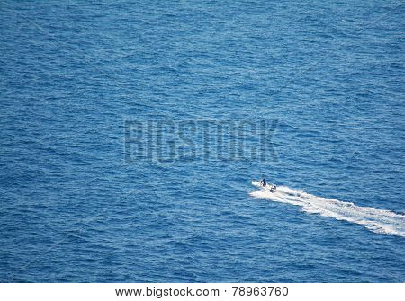 Motorboat In Sardinia