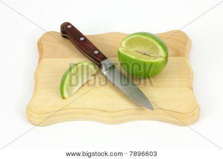 Lime Knife Cutting Board