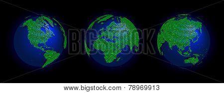 Electronic World 3 Globes