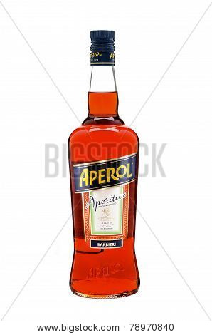 Bottle Of Aperol Aperitivo Liqueur