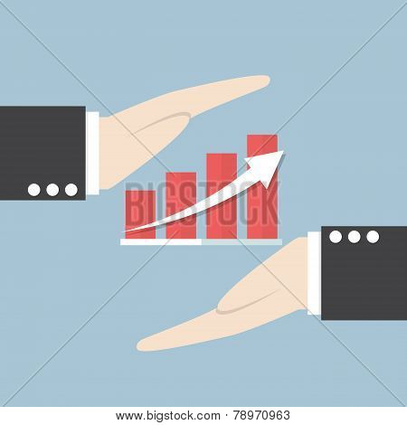 Businessman Hand And Graph