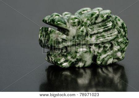 Carved Jadeite Dragon