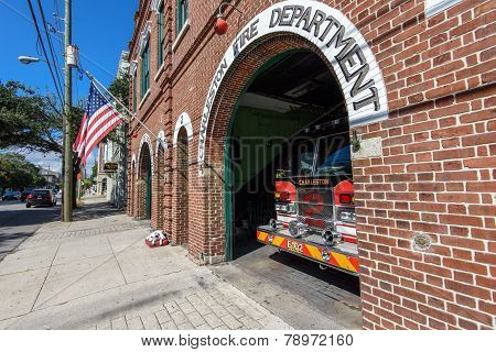 Vintage Fire Station in Charleston, SC.