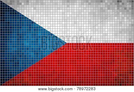 Mosaic Flag of Czech