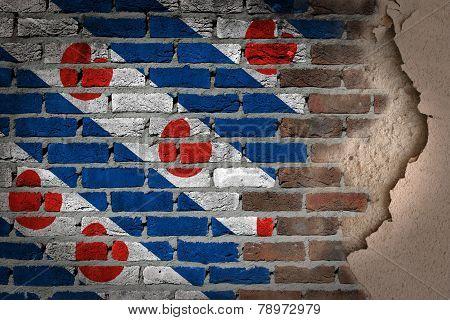 Dark Brick Wall With Plaster - Friesland