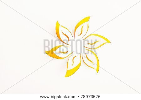 Greeting Card With Paper Flower