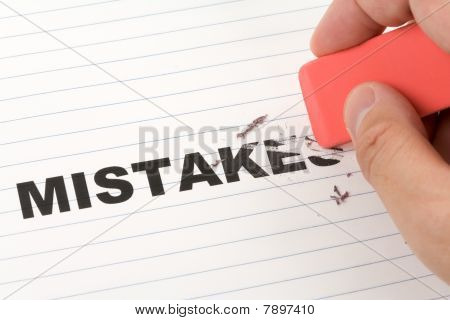 Eraser And Word Mistakes