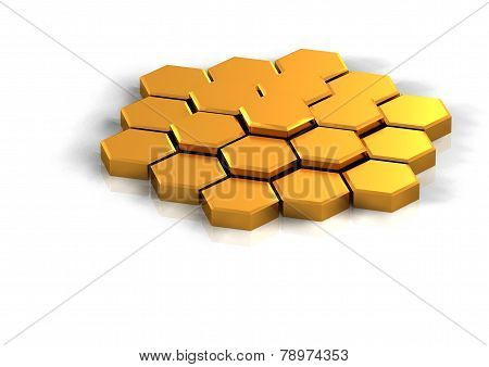 Hexagonal Background Concept Rendered