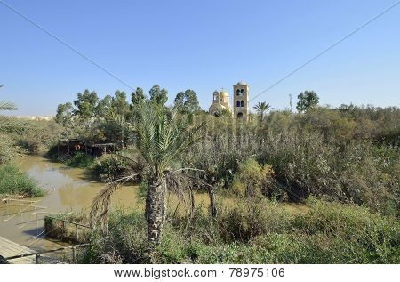 Jordan River The Place Of Baptism.