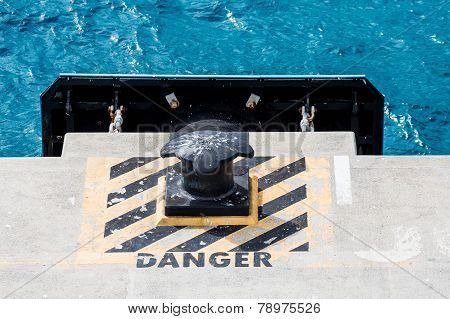 Danger By Bollard