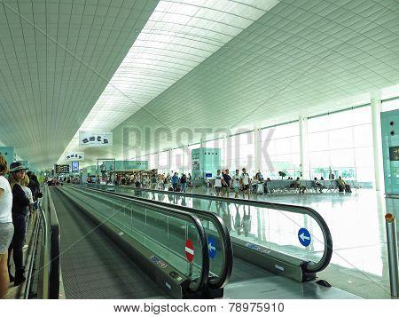 Barcelona International Airport Interior.
